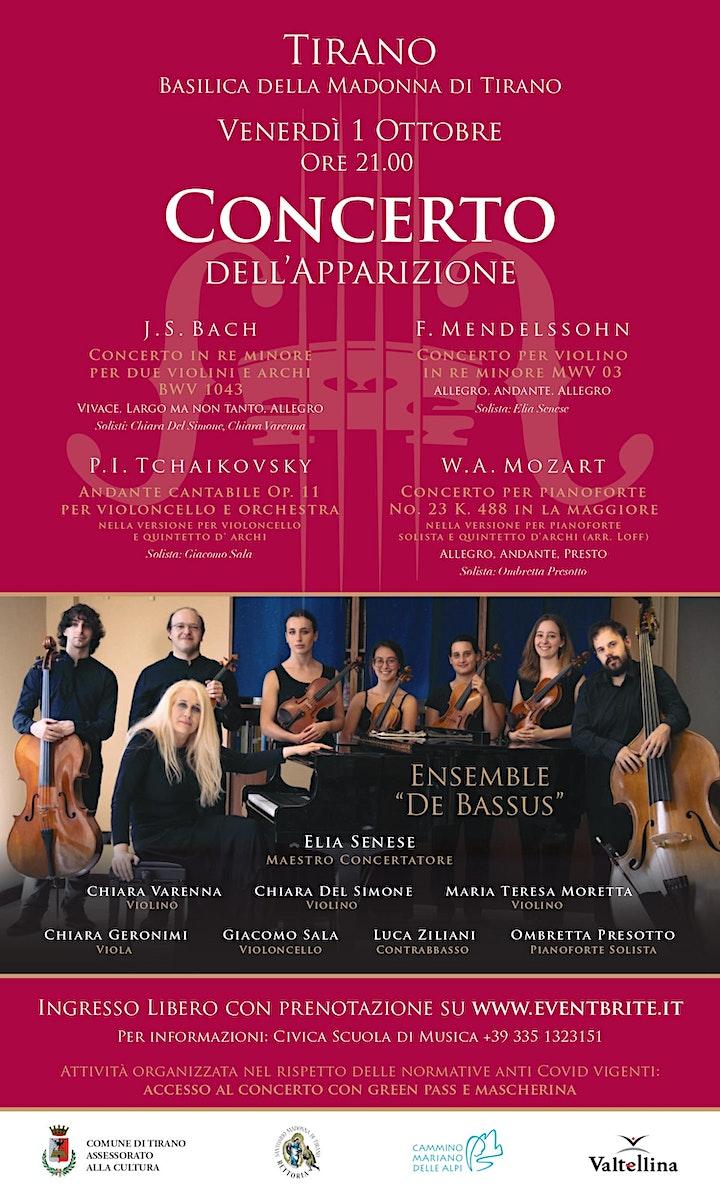 """Immagine Concerto dell'Apparizione - Ensemble """"De Bassus"""""""