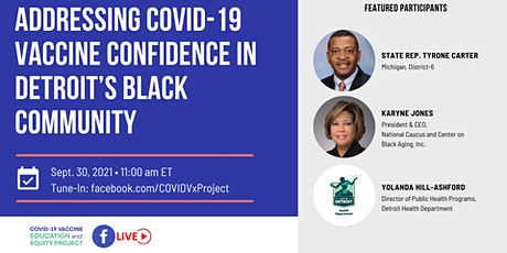 Addressing COVID-19 Vaccine Confidence in Detroit's Black Community tickets
