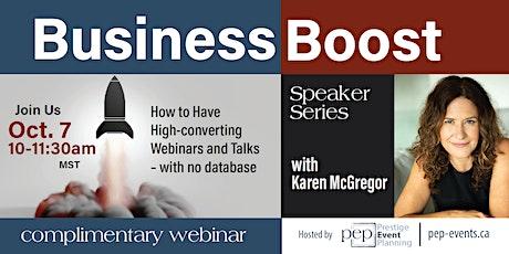 Business Boost - Speakers Series with Karen McGregor tickets