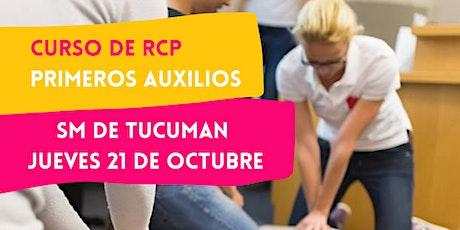 TUCUMAN - 21/10 CURSO RCP Y PRIMEROS AUXILIOS TUCUMAN entradas