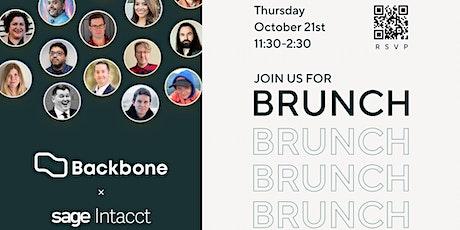 Brunch with Backbone + Sage Intacct tickets