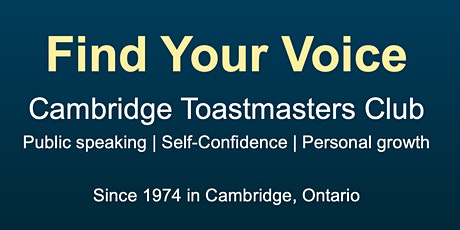 Sharpen your public speaking skills at Cambridge Toastmasters! tickets