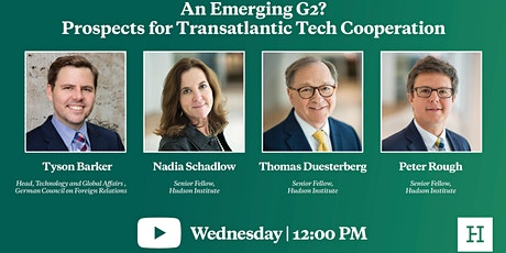 Virtual Event | An Emerging G2 Prospects for Transatlantic Tech Cooperation tickets