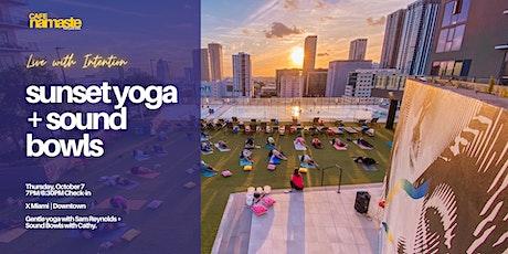 Sunset Yoga + Sound Bowls tickets