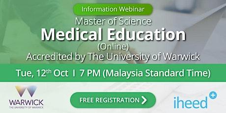 MSc Medical Education: University of Warwick - Info Webinar - Oct 12 2021 tickets