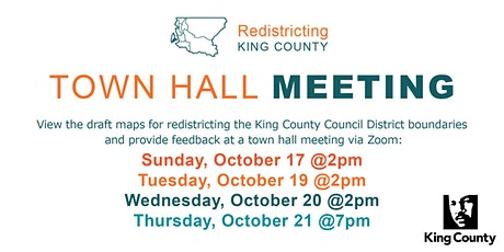 Town Hall Meeting - King County Districting Committee tickets