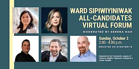 Ward sipiwiyiniwak All-Candidates Virtual Forum tickets