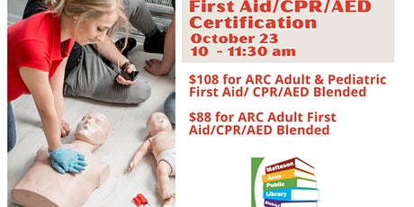 First Aid/CPR/AED Certification tickets