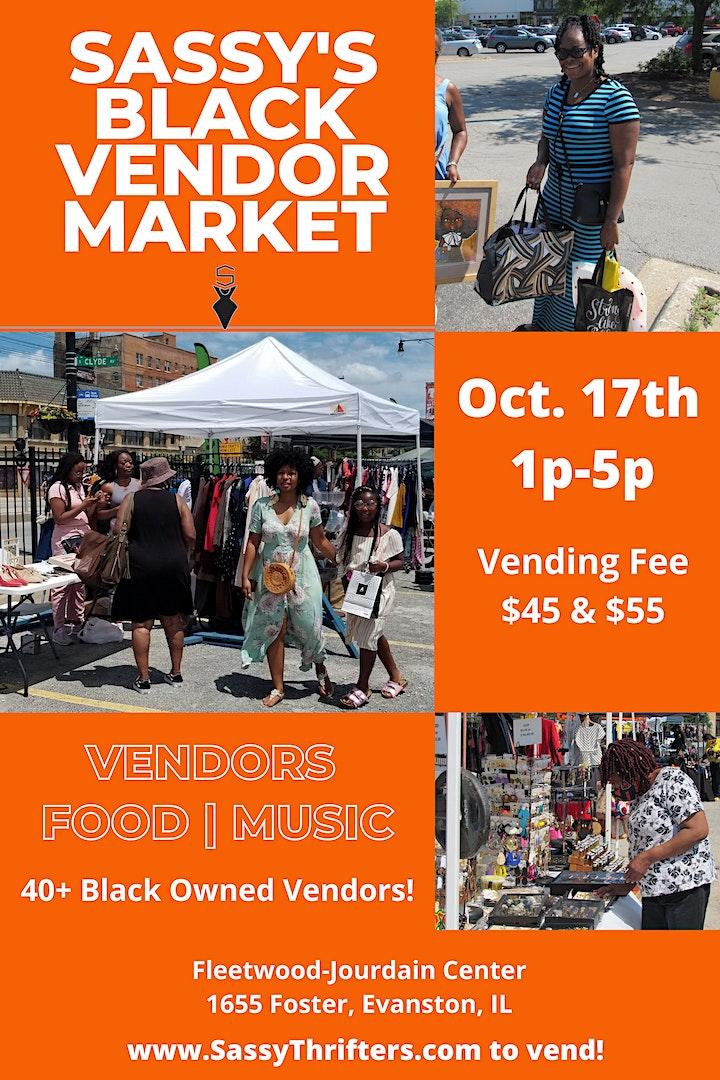 Sassy's Evanston Black Vendor Market - October image