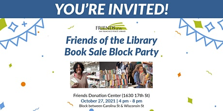 Friends of the Library Book Sale Block Party! tickets