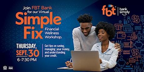 FBT Bank Financial Wellness Workshop tickets
