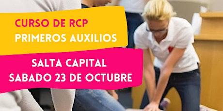 SALTA - 23/10 CURSO RCP Y PRIMEROS AUXILIOS tickets