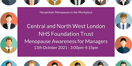 Menopause Awareness Workshop for Line Managers tickets