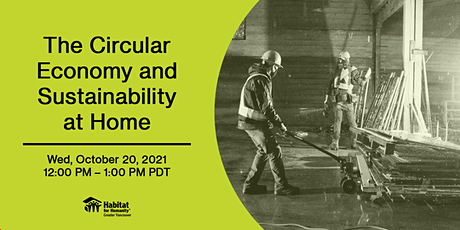 The Circular Economy and Sustainability at Home tickets