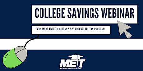 MET College Savings Webinar tickets