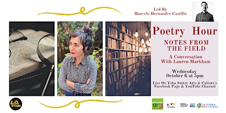 Poetry Hour: Notes From the Field With Marcelo Hernandez Castillo tickets