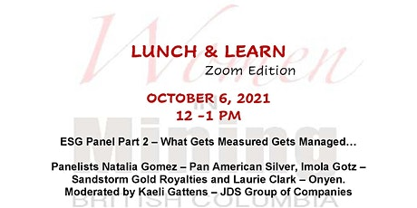 WIMBC Lunch & Learn - October 6, 2021 - Online Event tickets