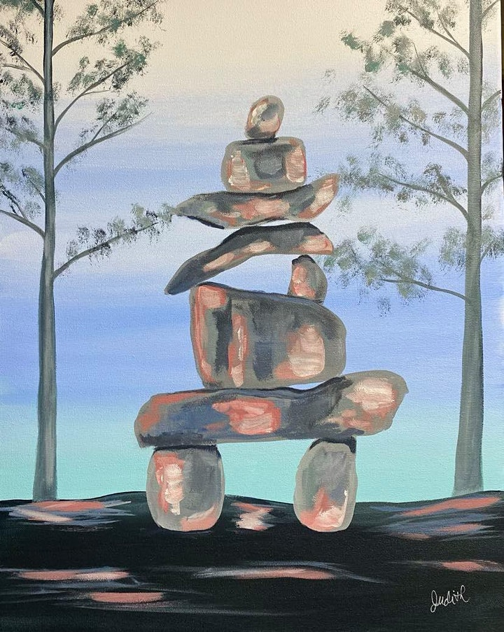 Paint Night in Rockland - Inukshuk at G.A.B.'s image