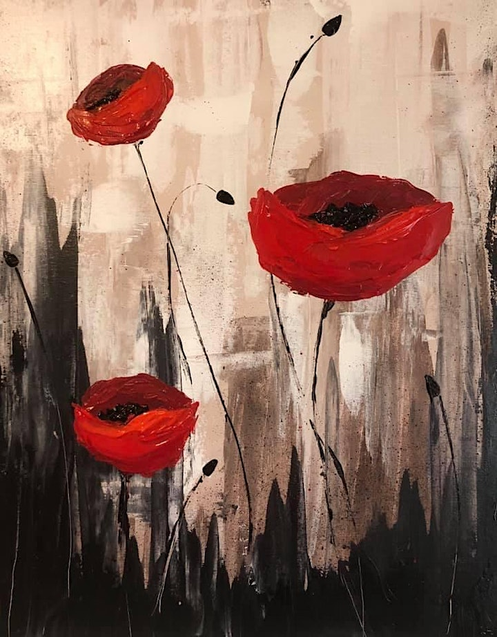 Paint Night in Rockland - Poppies at G.A.B.'s image