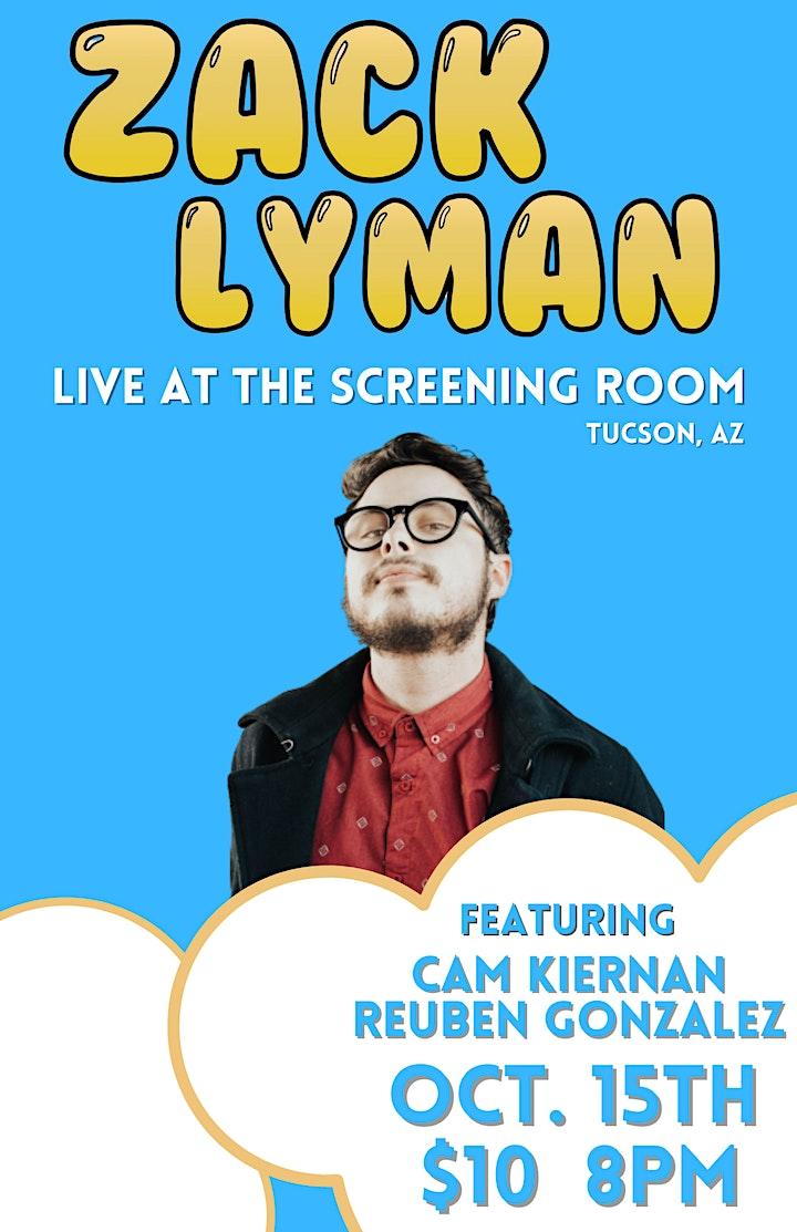 Zack Lyman Live At The Screening Room In Tucson, Arizona image