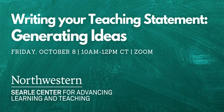 Writing Your Teaching Statement: Generating Ideas tickets