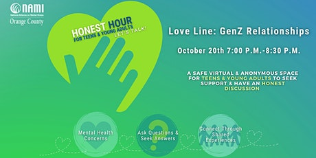 Honest Hour: Love Line -  Let's Talk Gen-Z Relationships tickets