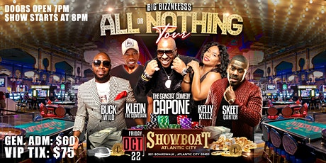 GREG PARKER PRESENTS ALL OR NOTHING TOUR COMEDY SHOW HOSTED BY: BUCKWILD tickets