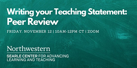 Writing Your Teaching Statement: Peer Review tickets