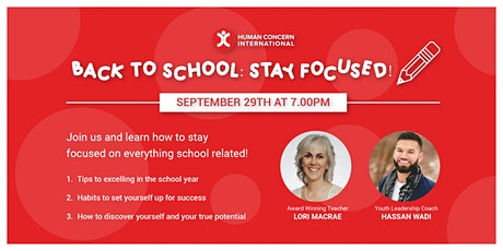 Back to School: Stay Focused! tickets