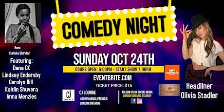 CJ Lounge Comedy Night Presents Olivia Stadler tickets