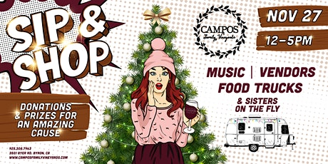 Annual Holiday Sip and Shop at Campos Family Vineyards tickets