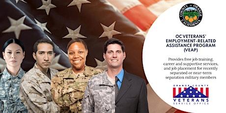 Veterans Employment-Related Assistance Program (VEAP) Orientation tickets