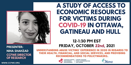 A Study of Access to Economic Resources - Victims in COVID-19 in Ottawa tickets