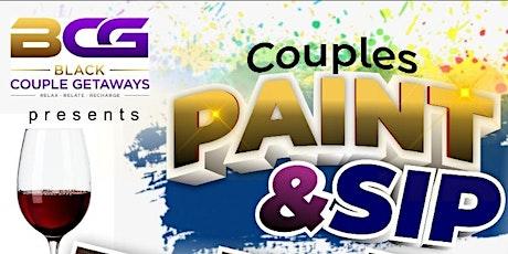 BLACK COUPLE GETAWAYS PAINT & SIP BIRMINGHAM! tickets
