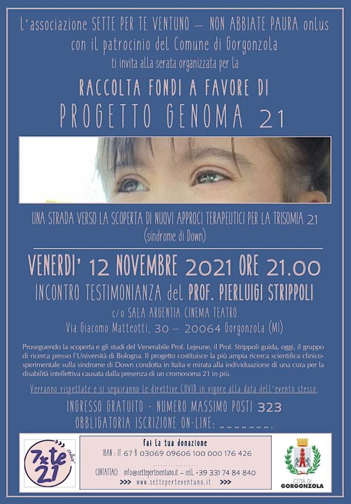 Immagine RACCOLTA FONDI per PROGETTO GENOMA 21
