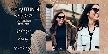 The Autumn Exclusive at Skin Iowa, PC tickets