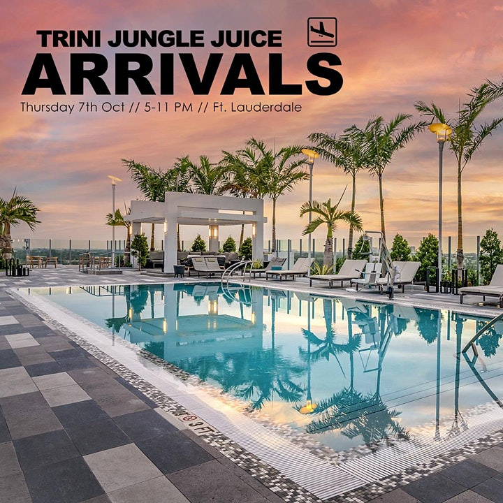 Trini Jungle Juice ARRIVALS Rooftop Pool Party   Miami Carnival 2021 image