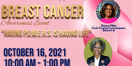 """Breast Cancer Awareness Event """"Having P.O.W.E.R.S. is Having Life"""" tickets"""