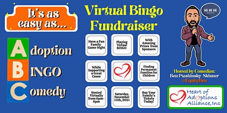 It's as easy as ABC- Adoption, Bingo, & Comedy: A Fundraising Event tickets