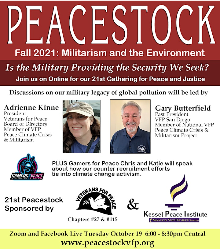 Peacestock Fall21 Militarism and the Environment image