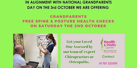 FREE Chiropractic & Osteopathy Health Checks ! Only 12 Tickets Available! tickets