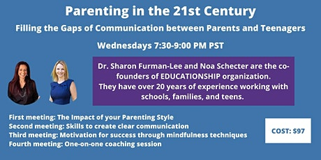 Workshop-Filling the Gap of Communication  Between Parents and Teens tickets