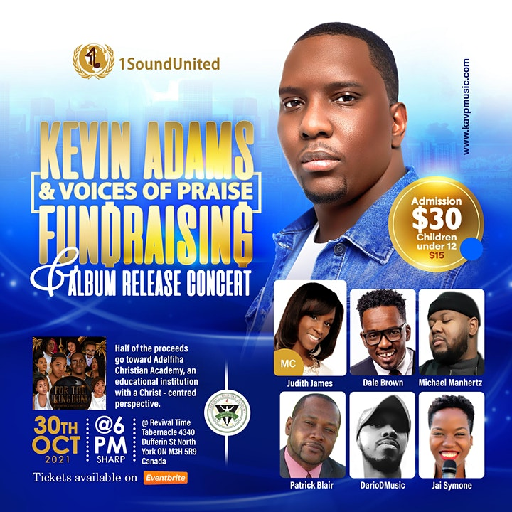 Kevin Adams & Voices of Praise LIVE: Fundraising & Album release image