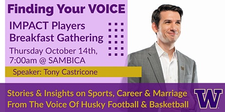 Finding Your Voice: Sports, Broadcasting & Marriage with Tony Castricone tickets