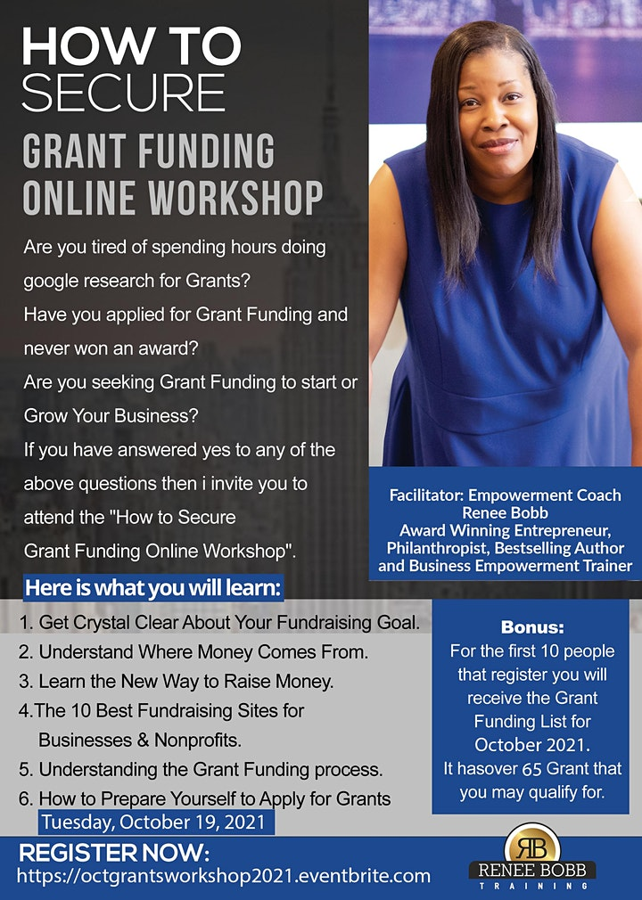 How to Secure Grant Funds For Your Business or Nonprofit Training Course image