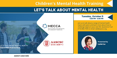 Let's Talk About Mental Health: Discussion with Teens tickets