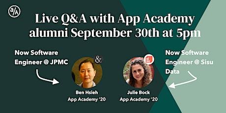 App Academy Alumni Q&A tickets