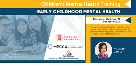 Early Childhood Mental Health Training for Parents tickets