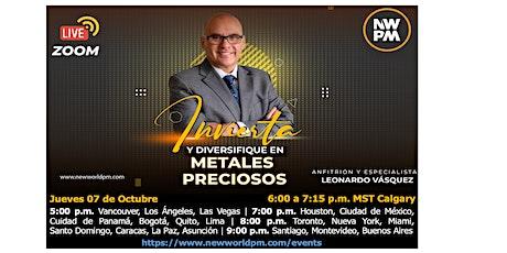 """Invierta y Diversifique en Metales Preciosos """"ORO-PLATA-PLATINO–PALADIO"""" entradas"""