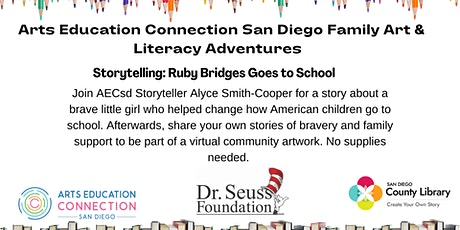 AECsd  Family Art & Literacy Adventures Storytelling Encinitas Library tickets